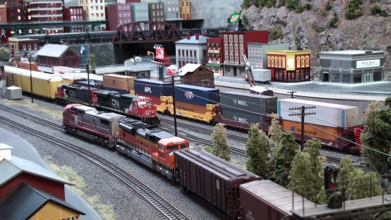 Part III Shows the best train action yet with scale weathered models operating on this finished and highly detailed layout